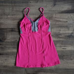 Lululemon Pink and Gray Tank Top